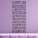 Sticker Texte La Salle de Bain