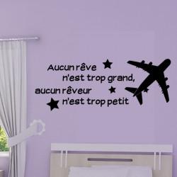 Sticker Texte : aucun rêve n'est trop grand, aucun rêveur n'est trop petit