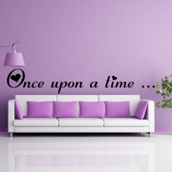 Sticker Texte : Once upon a time