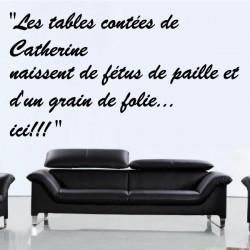 Sticker Texte : Les tables contées de Catherine