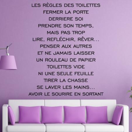 Texte : Les règles des Toilettes...avoir le sourire