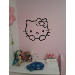 Sticker Tête Hello Kitty