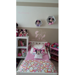 Sticker Minnie Visage se Cache