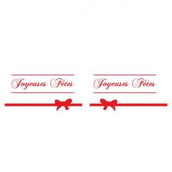Sticker Noël - 2 rubans + Joyeuses fêtes