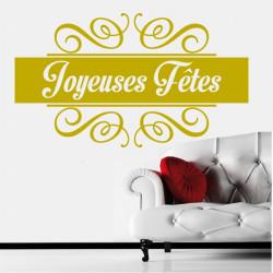 Sticker Noël - Bandeau Ornements Joyeuses Fêtes