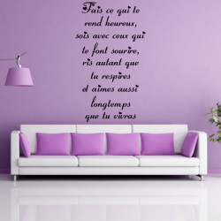 Citation : Fais ce qui te rend heureux, sois avec ceux qui te font sourire ... (Hauteur)