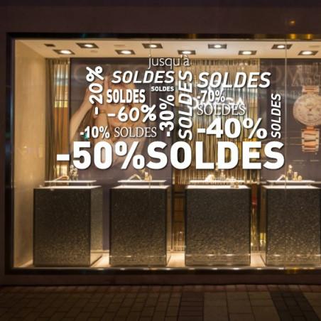 vitrine SOLDES - Mots mêlés