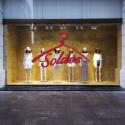 Sticker vitrine - Cintre Soldes