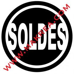 Sticker vitrine SOLDES - Rond