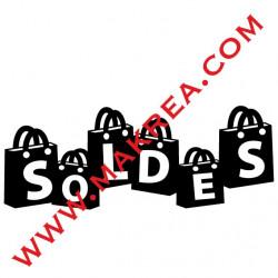 Sticker vitrine - Sacs Soldes