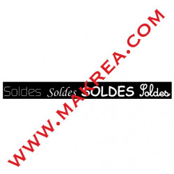 Sticker vitrine Bandeau Frise Soldes
