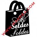 Sticker vitrine Soldes - Sac écriture Soldes