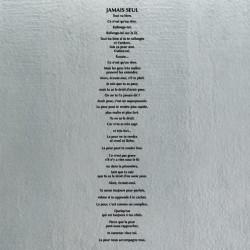 Sticker Texte : Jamais seul
