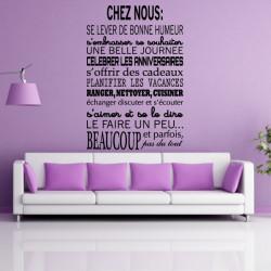 Sticker Texte CHEZ NOUS...