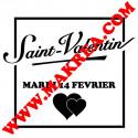 Sticker vitrine Encadré Saint-Valentin 14 février