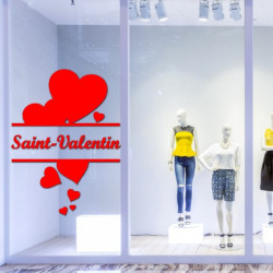 Sticker vitrine Coeurs Saint-Valentin