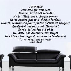 Sticker Poème : Jeunesse - Andrée Chédid