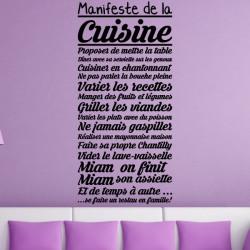 Sticker Texte : Manifeste de la Cuisine