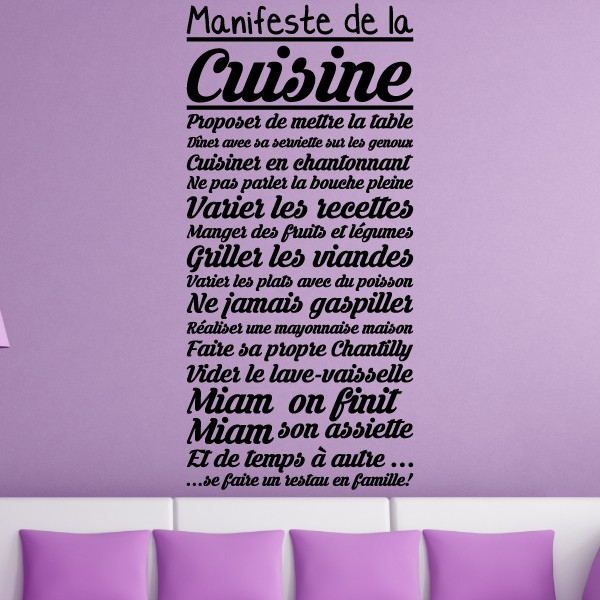 stickers texte cuisine amazing stickers texte cuisine with stickers texte cuisine great. Black Bedroom Furniture Sets. Home Design Ideas