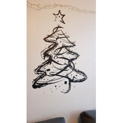 Sticker Sapin de Noël esquisse