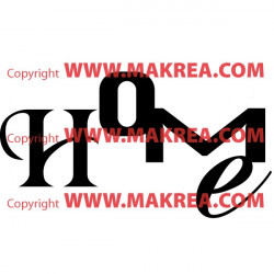 Sticker Lettrage HOME