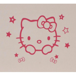 Stickers Interrupteur / Prise Tête Hello Kitty