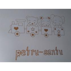 Sticker Petit Train des Animaux + Prénom personnalisé
