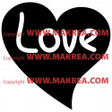 Sticker Coeur Love