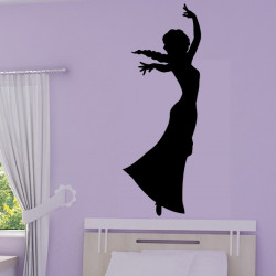 Sticker La Reine des Neiges - Silhouette Elsa Pouvoir de Glace