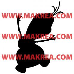 Sticker La Reine des Neiges - Silhouette Olaf Bonhomme de Neige Heureux