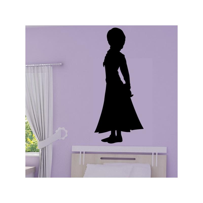 Sticker La Reine des Neiges - Silhouette Anna Robe