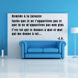 Sticker Texte Citation : Remède à la Jalousie...
