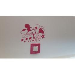 Stickers Interrupteur / Prise Minnie Etoiles