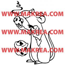 Sticker Ratatouille - Remy mange du fromage