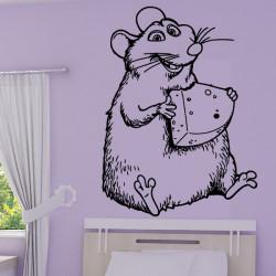 Sticker Ratatouille - Emile mange du fromage