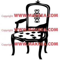 Sticker Chaise Baroque 2