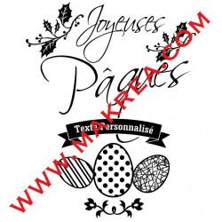 Sticker Vitrine Joyeuses Pâques & Bandeau personnalisé