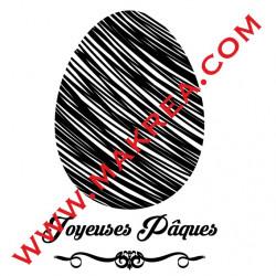 Sticker Vitrine Oeuf Design & Joyeuses Pâques
