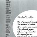 Sticker Chanson Marchand de cailloux - Renaud