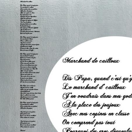 Chanson Marchand de cailloux - Renaud