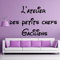 Sticker Texte : L'atelier des petits chefs Gaciliens