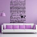 Sticker Texte Les règles de la Famille ... Savoir que l'on est aimé