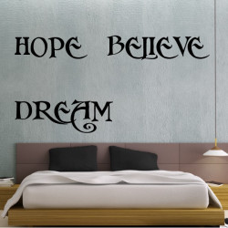 Citation : Hope Believe Dream