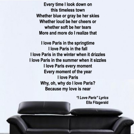 Chanson : I Love Paris - Ella Fitzgerald