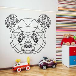 Sticker Géométrique - Tête de Panda