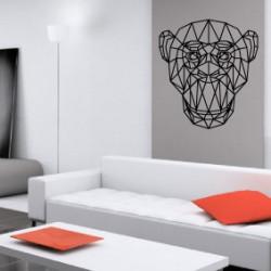 Sticker Géométrique - Tête de Singe
