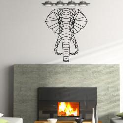 Sticker Géométrique - Tête Eléphant