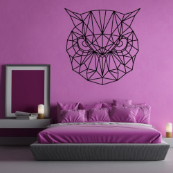 Sticker Géométrique - Tête Hibou