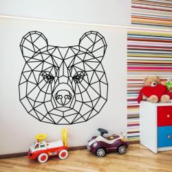 Sticker Géométrique - Tête Ours Brun