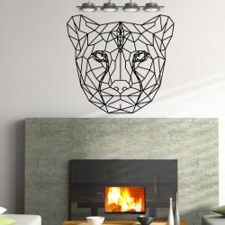Sticker Géométrique - Tête de Guépard